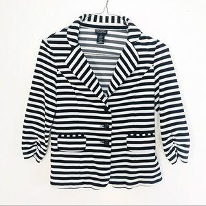 Soho Apparrel Striped Blazer